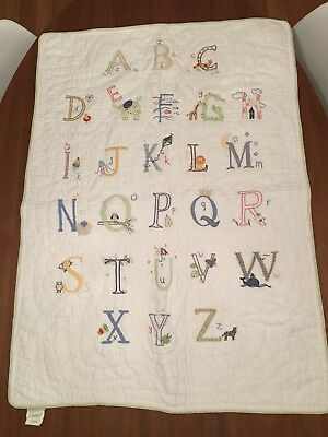 Pottery Barn Kids Nursery Cot Quilt And Wall Decor. Unisex Boys Girls $199rrp