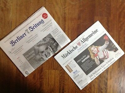 Madonna on Cover of 2 german newspapers + clipping collection 60th Birthday