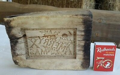 ANTIQUE WOODEN SHORTBREAD BISCUIT COOKIE BUTTER MOULD . A Merry Xmas . BERWICK