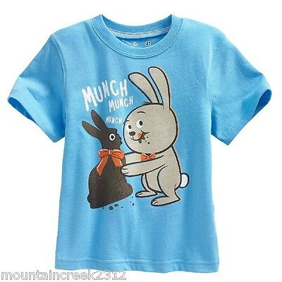 Jumping Beans Tee Easter Bunny 24 months Cotton Blue New