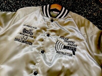LAPD Official Drill / Stunt Team Jacket - Silver Embroidered Drillmaster Rare AF
