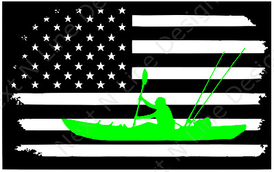 """Psychedelic Kayak Decal//Sticker for Car//Truck//Window//Cooler//Kayak 2/""""x6/"""""""