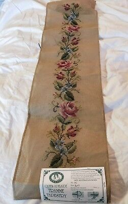 BRAND NEW QUEEN ADELAIDE Trammed TAPESTRY CANVAS & WOOL No. A5 Flowers