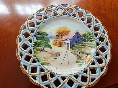 Portuguese hand decorated plates- backstamped 46