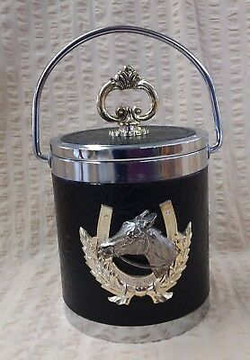 Retro Vintage Horse Head And Horse Shoe Ice Bucket