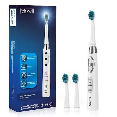 Sonic Electric Toothbrush Rechargeable for Adults and Kids 3 Modes by Fairywill