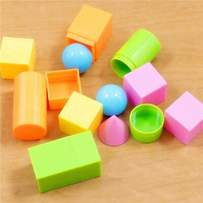 6pcs Mini Geosolids Maths 3D Shape Plastic Geometric Solids volume Montessori Z