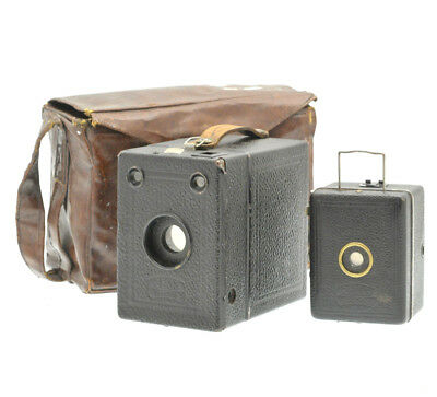 A pair of Zeiss Ikon Box Cameras - Box Tengor 54/2 with case and baby Box Tengor