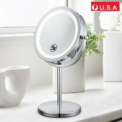 Makeup Mirror Led Light for Vanity Mirror,1X / 5X Magnification Double Side HM