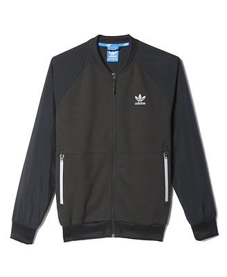 Brand New Adidas Sport Luxe Knit Track Jacket Bomber Size Small Mens Black