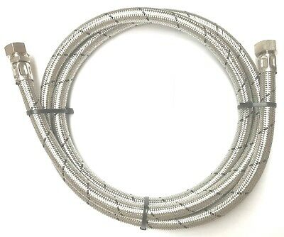 """Stainless Steel Braided Water Hose 1/2"""" Female x 15mm  lengths  300 - 3000mm"""