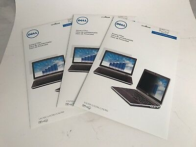 "Lot of 3 New Dell Privacy Filter 12.5"" Widescreen N3T6D"