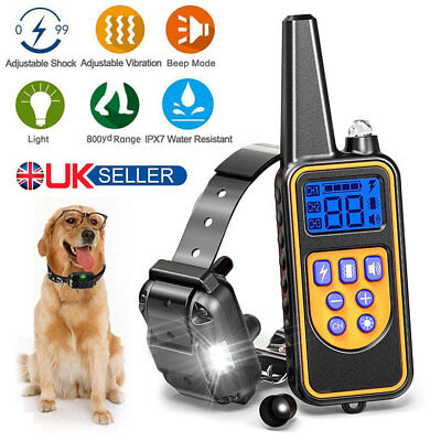 Dog Pet Training Shock Collar Electric Remote Waterproof Rechargeable Anti Bark