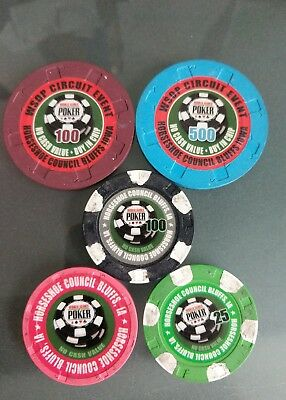 Lot World Series of Poker Buy In Chips and regular chips  Council Bluffs Iowa
