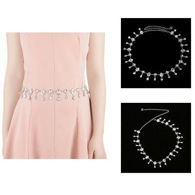 Girls Belly Dance Waist Chains Body Chain Crystal Skinny Belts for Dresses