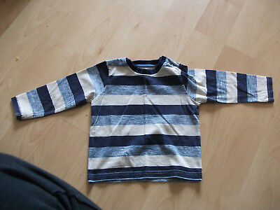 **Boys Nutmeg  Long Sleeved Top Blue & Cream Age 9-12 months Good Condition**