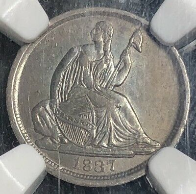 1837-P H10C Liberty Seated Half Dime No Stars (NGC XF45) XR18799YT