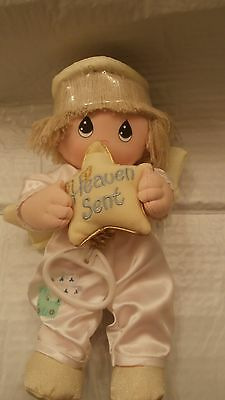 NEW Precious Moments Musical Pull-Down Doll~Boy Angel w/Star~Twinkle, Twinkle