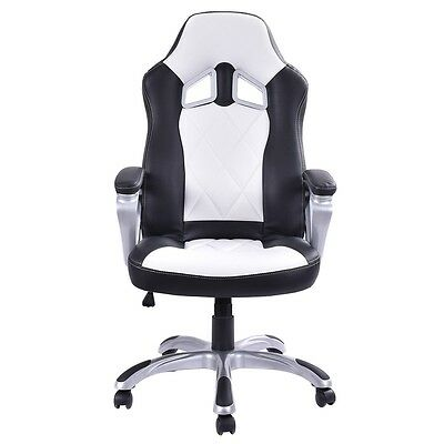 Office High Back Racing Bucket Seat Gaming Chair Swivel Desk Task Furniture Home