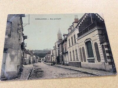 CPA  ancienne -28 -COULOMBS ( E & L ) RUE PRINCIPALE