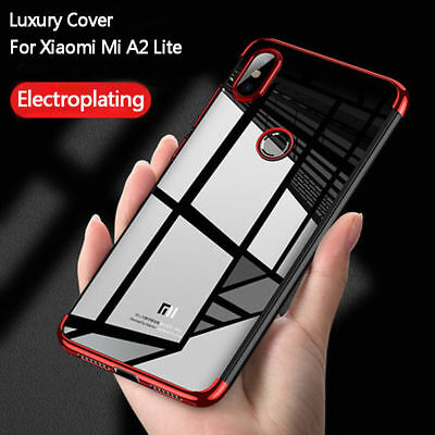For Xiaomi Mi A2 Lite 8SE Redmi S2 Electroplating Clear Slim Soft TPU Case Cover