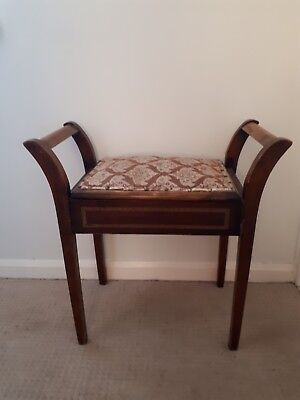 Piano stool, Tapestry topped, with Storage - Antique? Vintage?