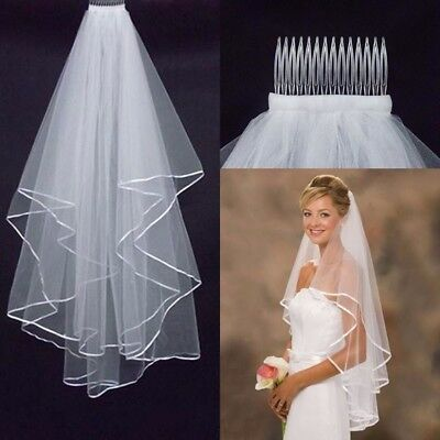 1.5M Bride Lace Veil Elbow Length With Comb Bridal Wedding Dress Accessory
