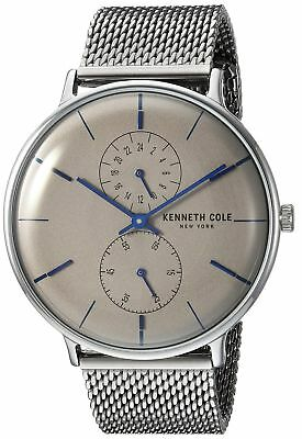 Kenneth Cole New York Men's Quartz Stainless Steel Casual Watch, Color Silver...