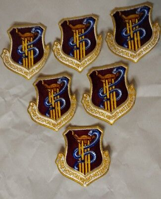Us Military Usaf Wright Patterson Hospital Patches Lot Of 6