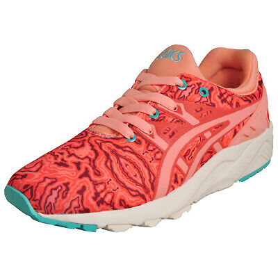 Asics Tiger Womens Gel Kayano Evo Retro Running Casual Trainers Coral Pink