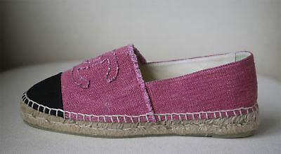 18b3f33a759 CHANEL LINEN CANVAS Cc Espadrilles Eu 39 Uk 6 Us 9 - EUR 558,79 ...