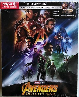 New Marvel Avengers Infinity War 4K Ultra Hd Blu Ray Target Exclusive Digipack