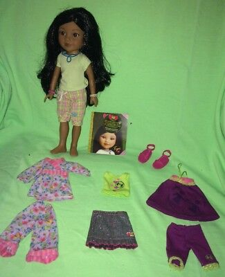 """Hearts for Hearts Girls---Tipi From Laos 14"""" Doll---PLUS Extra Outfits & Shoes"""