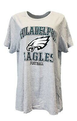 ab4b68ee PHILADELPHIA EAGLES WOMEN'S NFL Team Apparel Grey T-Shirt, Plus Size, nwt