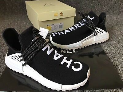 sale retailer 267cc be24f ADIDAS NMD HUMAN race Pharrell x Chanel black and white size 10. 100%  authentic