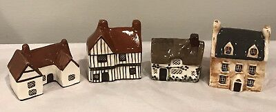 Vintage Suffolk Cottages Around the Corner  - Made in England - 4 Total