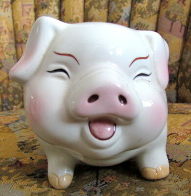 Piggy Bank, Large Smiling Fat Pig; No Need To Break Bank; New, Good Child's Gift