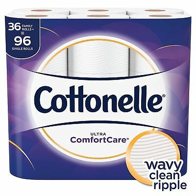 Cottonelle Ultra Comfort Care Toilet Paper (36 Family Rolls= 96 rolls) Free Ship