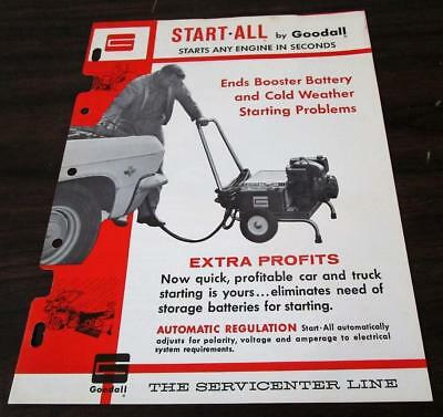 Vintage 1966 Goodall Start-All Automotive Battery Charger Dealer Brochure M