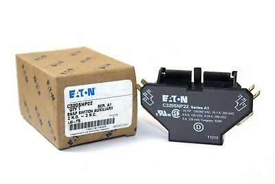 Eaton C320SNP22 Side Mounting Snap Switch Auxiliary Contact - New in Box