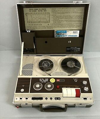 Rare Sixties Japan Ross Attache AM FM Radio and Tape Recorder Vintage Transistor