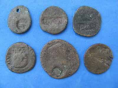 Fantastic Lot of 6 Roman Bronze Coins  wit LEGIONARY STAMPS