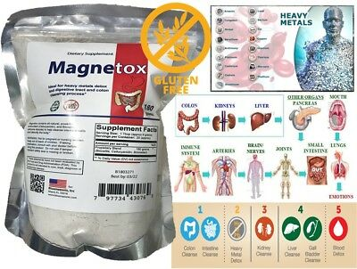 COLON CLEANSER heave metal detox toxins EXTRACT POWDER DETOX CLEANSE mercury FAS