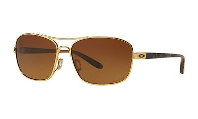 Oakley Sanctuary POLARIZED Sunglasses OO4116-03 Polished Gold W/ Brown Lens