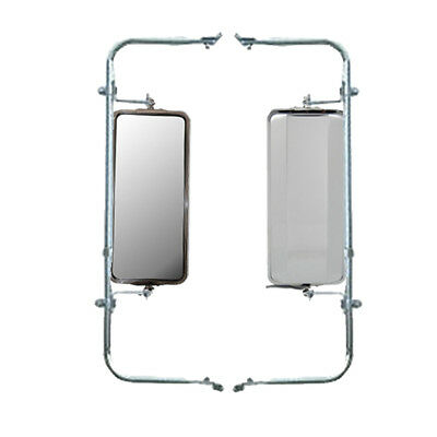 Set of  Wide Mount Loop Arm Assembly Stainless Steel West Coast Mirrors