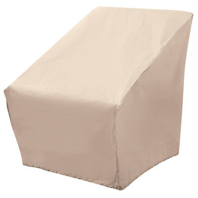 Elemental Tan Polyester Weatherproof Oversize Patio Chair Cover