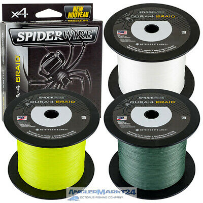 "(0,05€/m) Spiderwire ""DURA-4 Braid"" ab 100m Yellow,Green oder Translucent Schnur"