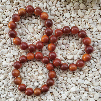 Nice 16 MM Raja Kayu Bracelet Dragon Blood Wood 14 Beads Borneo Red Agathis