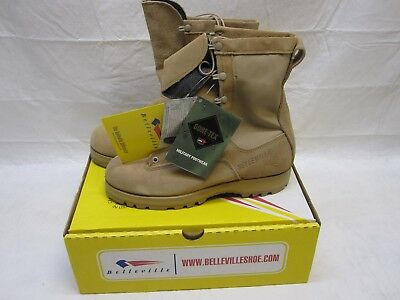Belleville Military Army Tan Waterproof Cold Weather Gore-Tex Boots 10 Wide 790G