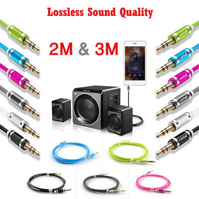 3.5mm Male to Male AUX Stereo Audio Cable Speaker Auxiliary Cord Car Nokia Oppo